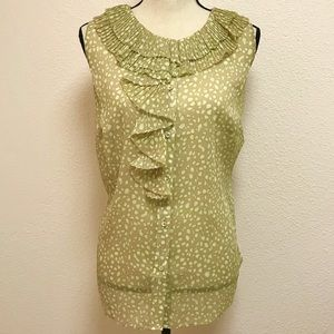 Anne Klein Lime Sorbet Multi Sleeveless Blouse NWT